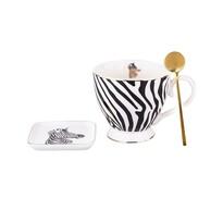Altom Porcelanowy komplet jumbo 430 ml, Zebra