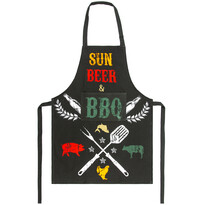 Șorț Sun, beer  BBQ, 60 x 80 cm