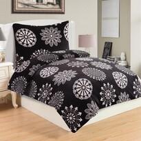 Lenjerie de pat Coco Black, din micro-pluș, 140 x 200 cm, 70 x 90 cm