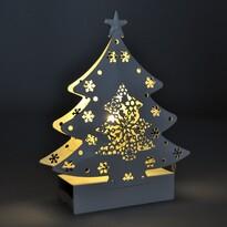 Solight 1V218 Vianočný kovový Stromček teplá biela, 2 LED