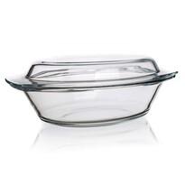 Tavă ovală de copt Simax, din sticlă, cu capac, 3,6 l