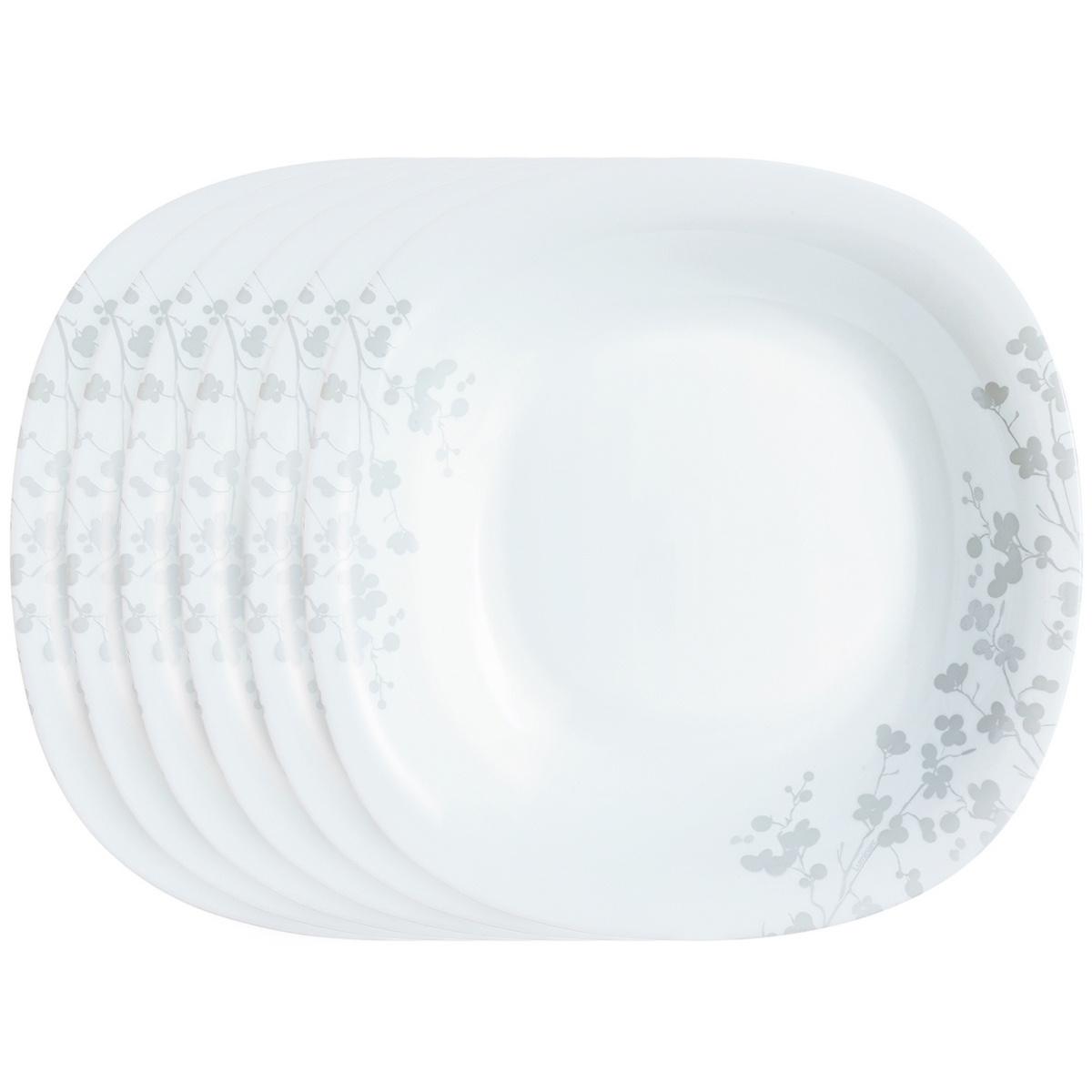 Luminarc Sada hlubokých talířů Ombrelle 21 cm, 6 ks, bílá