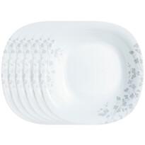 Luminarc Ombrelle mélytányér készlet, 21 cm 6 db, fehér