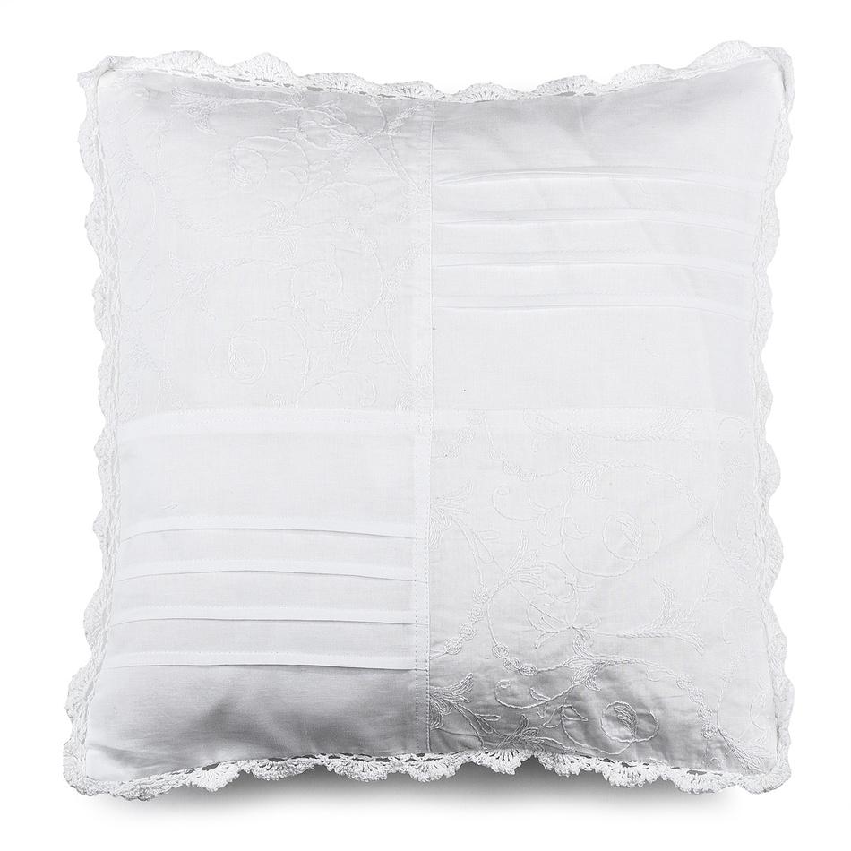 BO-MA Povlak na vankúšik plátený STP biela, 40 x 40 cm,