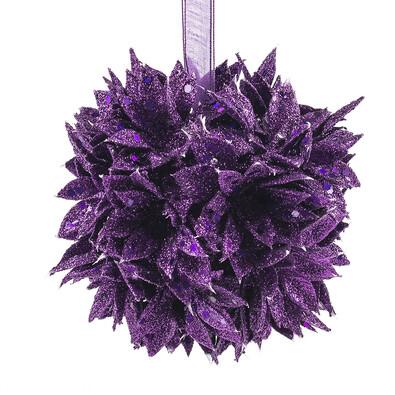 Poinsettia koule  fialová 12 cm