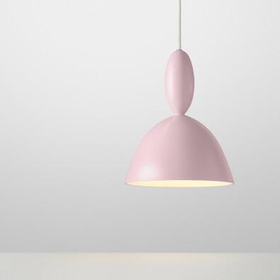 Lustr Mhy 24,5 cm, světle růžový