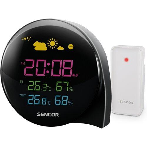 Sencor SWS 4300 Meteostanica s bezdrôtovým senzorom, čierna