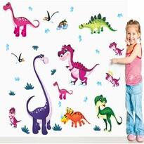 Samolepiaca dekorácia Farebné dinosaury