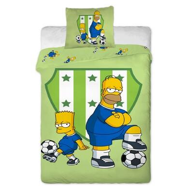 Dětské bavlněné povlečení Bart a Homer, 140 x 200 cm, 70 x 90 cm