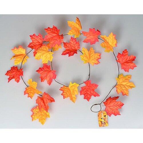 Podzimní girlanda 180 cm, oranžová