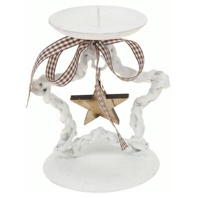 Vánoční svícen hvězda bílá