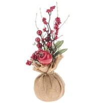 Umelá dekorácia Zimná kvetina, 25 cm