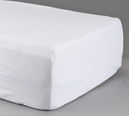 Prostěradlo žerzej bílá, 160 x 200 cm
