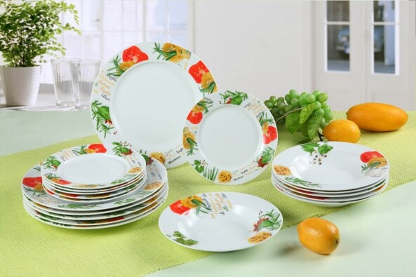 18dílná sada talířů