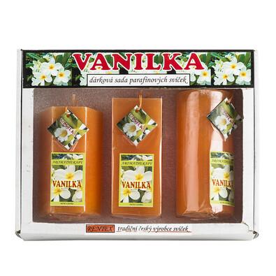 Dárková sada parafínových svíček vanilka