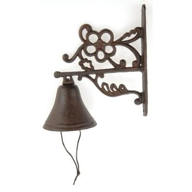 Zvonek z litiny v antické hnědé