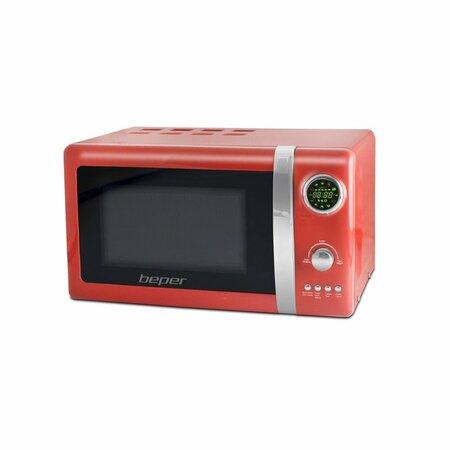 BEPER 90890-R digitální mikrovlnná trouba s grilem 20 l, červená