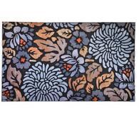 Venkovní rohožka Květiny, 46 x 76 cm, modrá, 46 x 76 cm