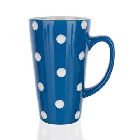 BANQUET Hrnček vysoký s bodkami, modrá,
