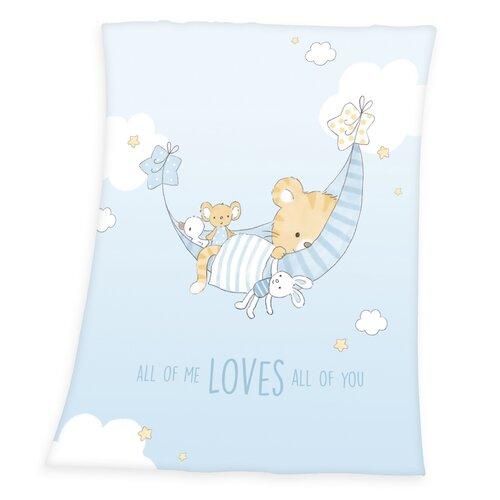 Pătură de copii Little Tiger, 75 x 100 cm