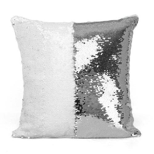 Domarex Povlak na polštářek s flitry Flippy stříbrná, 40 x 40 cm
