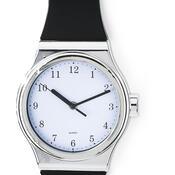 Nástěnné hodiny tvar hodinek černé
