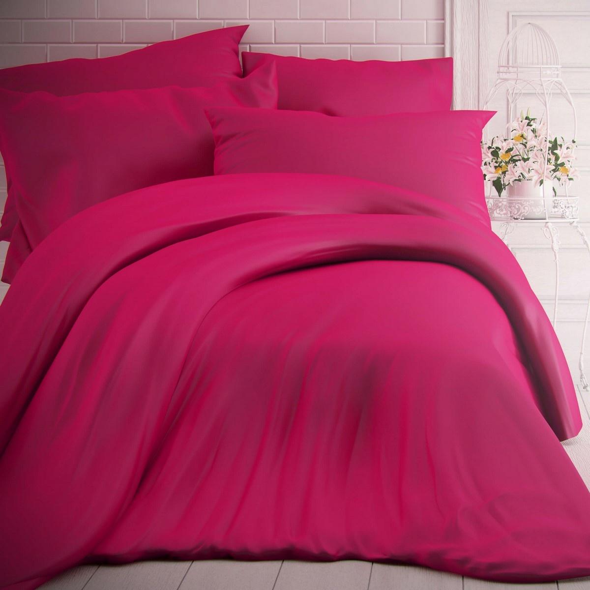 Kvalitex Bavlnené obliečky purpurová, 140 x 200 cm, 70 x 90 cm