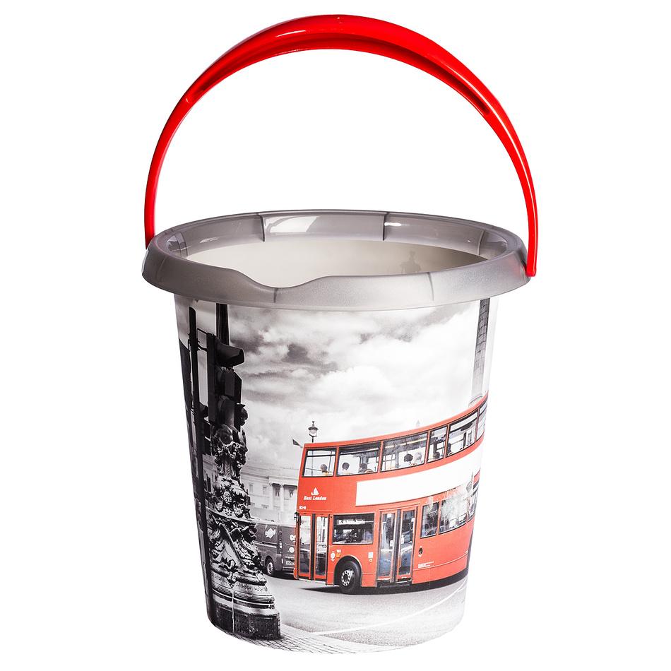 Kbelík s dekorem London bus, 12l, plast
