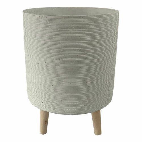 Ghiveci cu picioare Mona, 25,5 x 36 cm, alb