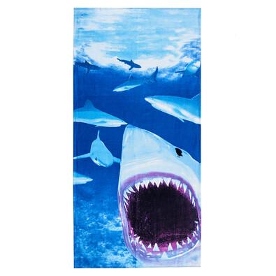 4Home Plážová osuška Žralok, 75 x 150 cm