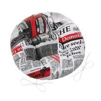 Ema Újság kerek steppelt székpárna piros, 40 cm