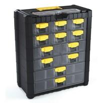 Felkasztható szekrény csavarokra 12 fiókkal
