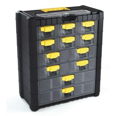 Závesný box na skrutky 12 priehradiek