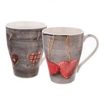 Orion Darčeková sada porcelánových hrnčekov Love Heart 380 ml, 2 ks