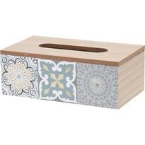 Drevený box na vreckovky Chinoas modrá, 24 cm