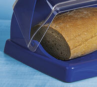 Chlebník s krájecí deskou, modrá