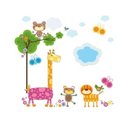 Samolepiaca dekorácia Veselé zvieratá