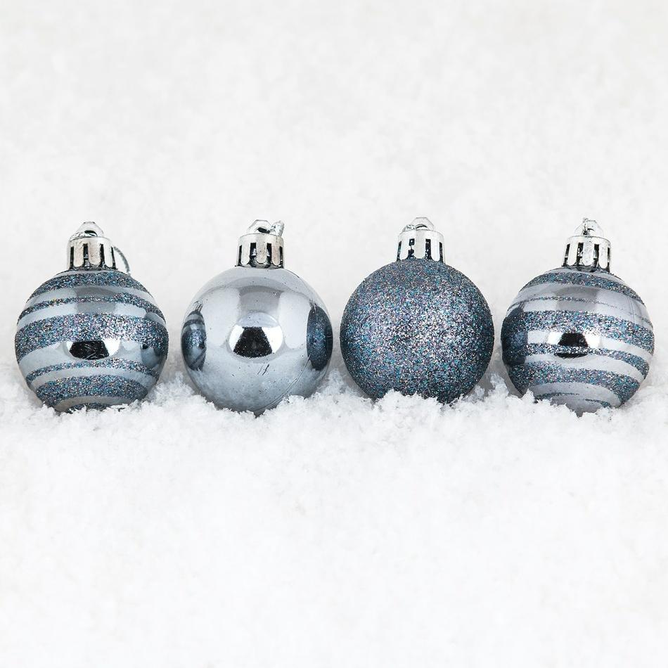 Vianočné gule pr. 5 cm, tmavo modrá, HTH, pr. 5 cm