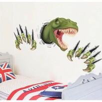 Decorațiune autocolantă 3D Dinozaur, galbenă