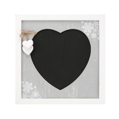 Tablă decorativă Love Winter 30 x 30 cmgri,