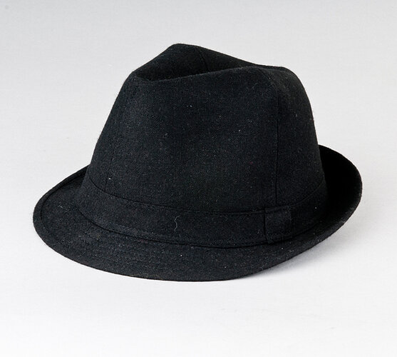 Pánský klobouk Karpet 8090, černý, 58