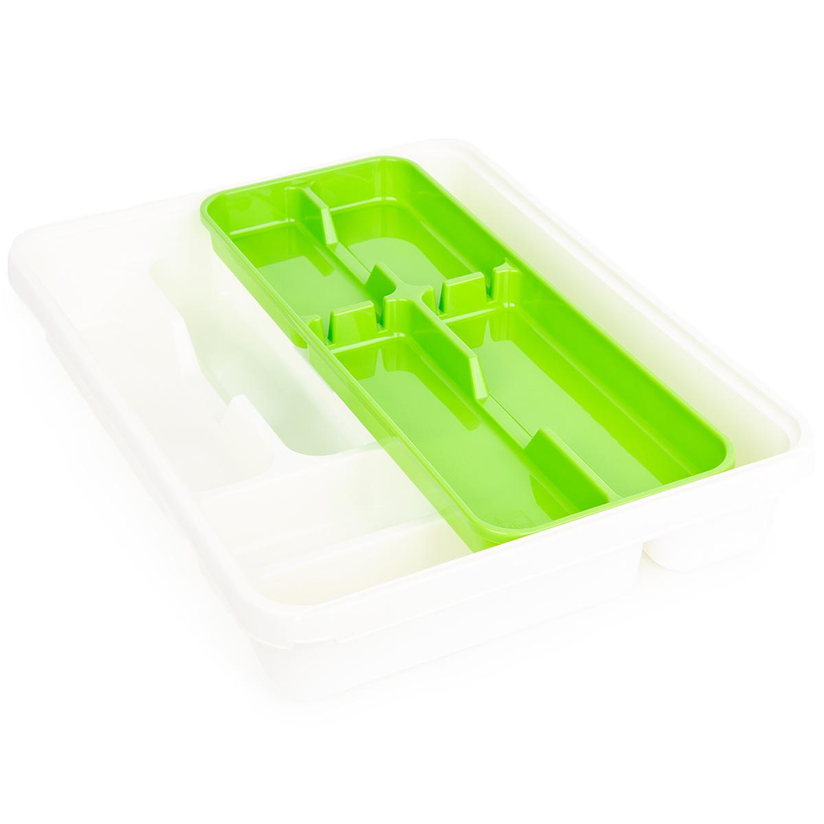Tontarelli 2dílný příborník Mixy, krémová/zelená