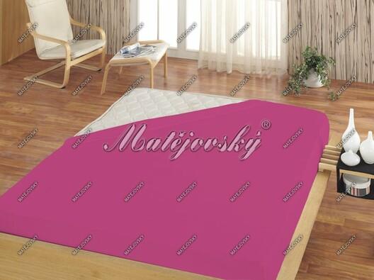 Matějovský jersey prostěradlo fuchsiová, 200 x 220 cm