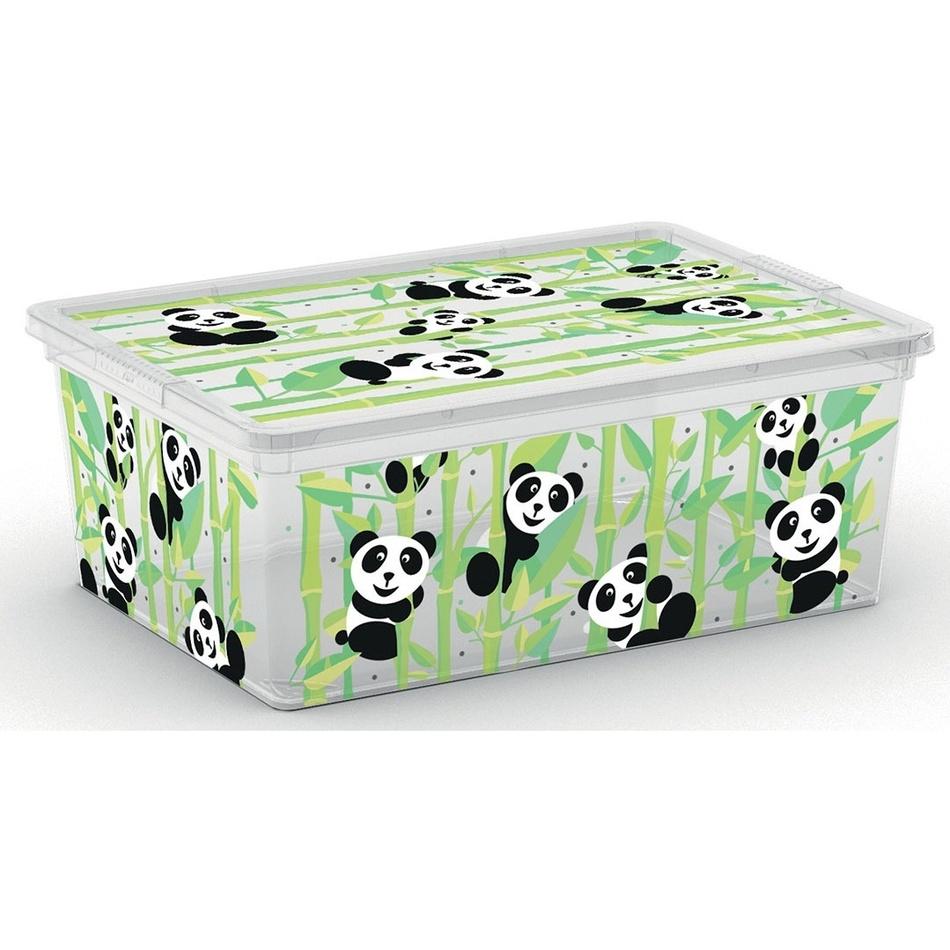 Úložný box KIS 84080-2230 C box ANIMAL - S - medvídek panda 11 l