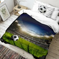 Lenjerie de pat din bumbac Fotbal3D, 140 x 200 cm, 70 x 90 cm
