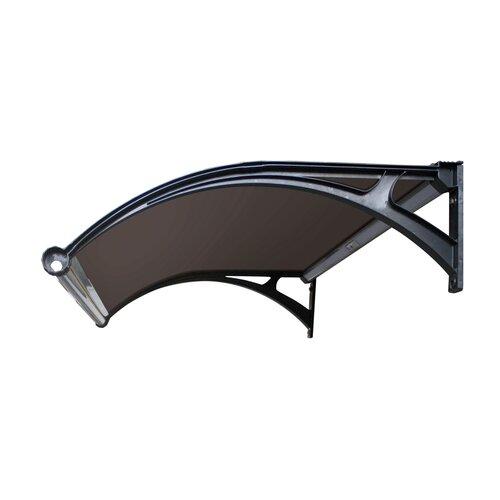 Aldo Dveřní vchodová LED stříška hnědá, 100 x 150 cm