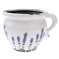 Ceramiczna osłonka na doniczkę Lawenda antyk, 17 x 14 x 12 cm
