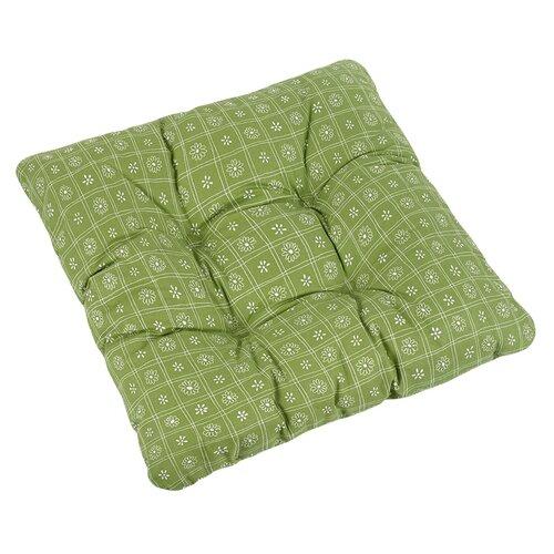 Bellatex Sedák Adéla Čtverce zelená, 40 x 40 cm