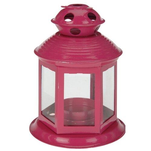 Koopman Lucerna na čajovou svíčku Linterne, růžová