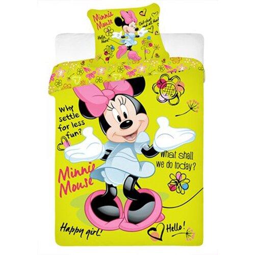 Jerry Fabrics obliečky Minnie green bavlna 140x200, 70x90 cm